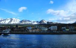 Ushuaia from the harbor Royalty Free Stock Photography