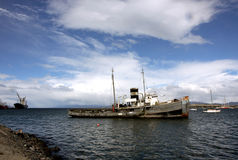 Ushuaia Harbour, Argentina. Old ship in Ushuaia Harbour, Argentina Stock Photography