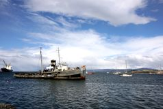 Ushuaia Harbour, Argentina Royalty Free Stock Photos