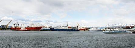 Ushuaia, het kapitaal van Tierra del Fuego, Agenitina Royalty-vrije Stock Foto's