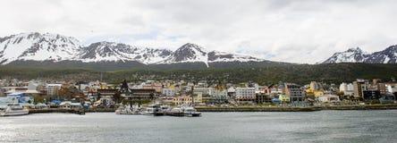 Ushuaia, het kapitaal van Tierra del Fuego, Agenitina Stock Foto's