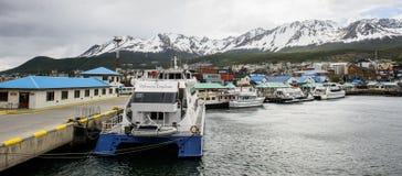 Ushuaia, het kapitaal van Tierra del Fuego, Agenitina Royalty-vrije Stock Afbeeldingen