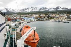Ushuaia, het kapitaal van Tierra del Fuego, Agenitina Stock Afbeelding