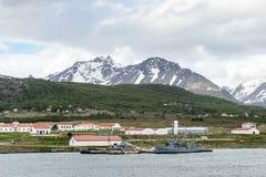Ushuaia, het kapitaal van Tierra del Fuego, Agenitina Stock Fotografie