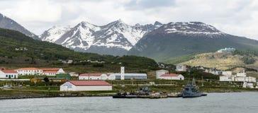Ushuaia, het kapitaal van Tierra del Fuego, Agenitina Stock Afbeeldingen