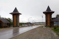 Ushuaia, het kapitaal van Tierra del Fuego, Argentinië royalty-vrije stock afbeeldingen