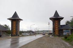 Ushuaia, het kapitaal van Tierra del Fuego, Argentinië royalty-vrije stock afbeelding