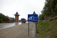 Ushuaia, het kapitaal van Tierra del Fuego, Argentinië royalty-vrije stock foto's