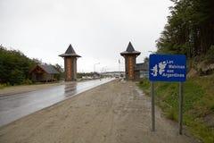 Ushuaia, het kapitaal van Tierra del Fuego, Argentinië stock fotografie