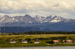 Ushuaia Houses Stock Photo
