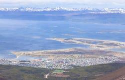 Ushuaia, incredibly located city. Stock Photo