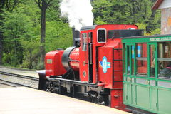 Ushuaia Końcówka światowy pociąg Zdjęcie Stock