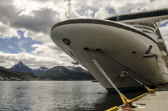 Ushuaia kryssningskepp Royaltyfria Bilder