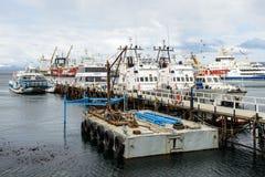 Ushuaia, la capitale di Tierra del Fuego, Agenitina Fotografia Stock Libera da Diritti