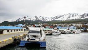 Ushuaia, la capitale di Tierra del Fuego, Agenitina Fotografie Stock Libere da Diritti