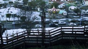 Ushuaia, la ciudad más situada más al sur del mundo, la Argentina almacen de video