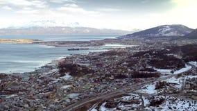 Ushuaia, la ciudad más situada más al sur del ` s del mundo almacen de video