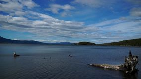 Ushuaia Landscapes and Lakes in Argentina. Durin my visit stock video footage