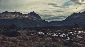 Ushuaia landskap royaltyfria foton
