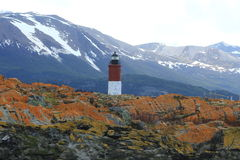 Ushuaia - Les Eclaireurs Lighthouse Royalty Free Stock Photography