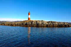 Ushuaia Lighthouse. The lighthouse of Ushuaia on an island in the Beagle Channel Royalty Free Stock Photo