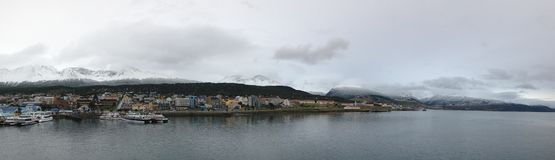 """Ushuaia localizó en la extremidad más situada más al sur de Suramérica, apodada el """"End del  de World†Imagen de archivo"""