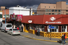 Ushuaia main street Stock Photo