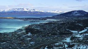 Ushuaia morgens Argentinien stock video