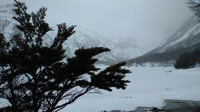 Ushuaia Mountain. Ushuaia - Argentina - Patagonia - Mountain Snow Tree - Laguna Esmeralda Royalty Free Stock Photography