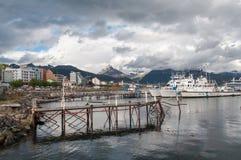 Ushuaia pier, Argentina. Ushuaia, Tierra del Fuego, Ushuaia, Argentina royalty free stock image