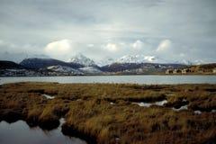 Ushuaia - pista del fuego, la Argentina foto de archivo libre de regalías