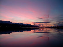 Ushuaia's coastline. In the morning Stock Photo