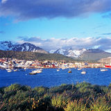 Ushuaia with snowcapped mountains, Argentina Stock Photos