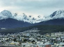 Ushuaia, The Southernmost City In The World Argentina, film photography royalty free stock photo