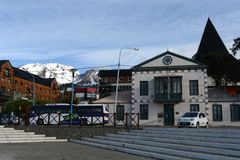 Ushuaia is the southernmost city in the world. USHUAIA, ARGENTINA - NOVEMBER 15,2014: Ushuaia is the southernmost city in the world Royalty Free Stock Photos