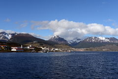 Ushuaia is the southernmost city in the world. Stock Photo