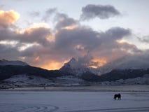 Ushuaia. Sunrise at the world's end stock images
