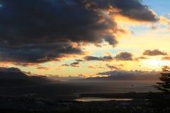 Ushuaia at sunset Stock Photos