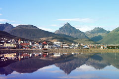 Ushuaia, Tierra del Fuego, Argentina. View on the Center of Ushuaia, Tierra del Fuego, Argentina royalty free stock images