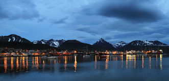 Ushuaia town at dusk, Argentina Stock Photos