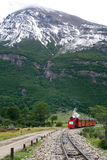 Ushuaia train. The train of the End of the World, in Ushuaia (Argentina), is coming Stock Images