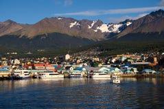 Ushuaia und der Spürhund-Kanal, Tierra del Fuego, Argentinien Lizenzfreies Stockbild