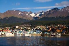 Ushuaia und der Spürhund-Kanal, Tierra del Fuego, Argentinien Lizenzfreie Stockfotografie