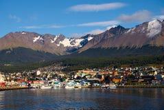 Ushuaia und der Spürhund-Kanal, Tierra del Fuego, Argentinien Lizenzfreie Stockbilder