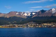 Ushuaia und der Spürhund-Kanal, Tierra del Fuego, Argentinien Stockbilder