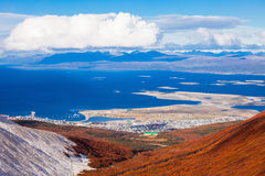 Ushuaia vom Kriegsgletscher lizenzfreie stockfotografie