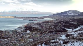 Ushuaia, The World`s Southernmost City. Ushuaia is the capital of Tierra del Fuego, Antártida e Islas del Atlántico Sur Province, Argentina. It is commonly stock video