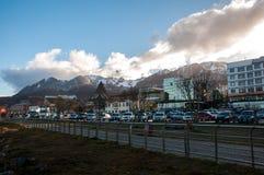 Ushuaias Promenade in Tierra del Fuego, Argentinien Stockfotografie