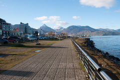Ushuaias Promenade in Tierra del Fuego, Argentinien Stockfotos