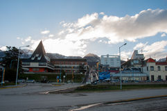 Ushuaias Promenade in Tierra del Fuego, Argentinien Lizenzfreie Stockfotografie